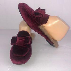 Catherine Malandrino Faux Fur Loafers Size 8.5